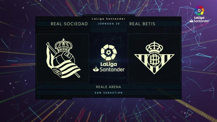 LaLiga Santander (J20): Resumen y goles del Real Sociedad 2-2 Betis