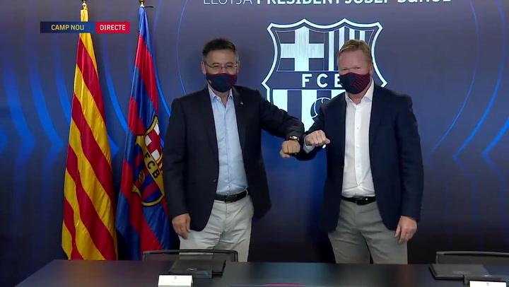 El FC Barcelona hace oficial la llegada de Koeman como nuevo entrenador