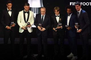 Real Madrid celebra el The Best de Modric ganado a Cristiano Ronaldo y Salah