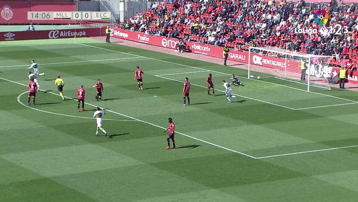 Laliga 1|2|3: Mallorca - Elche (1-1). Gol de Iván Sánchez (0-1)