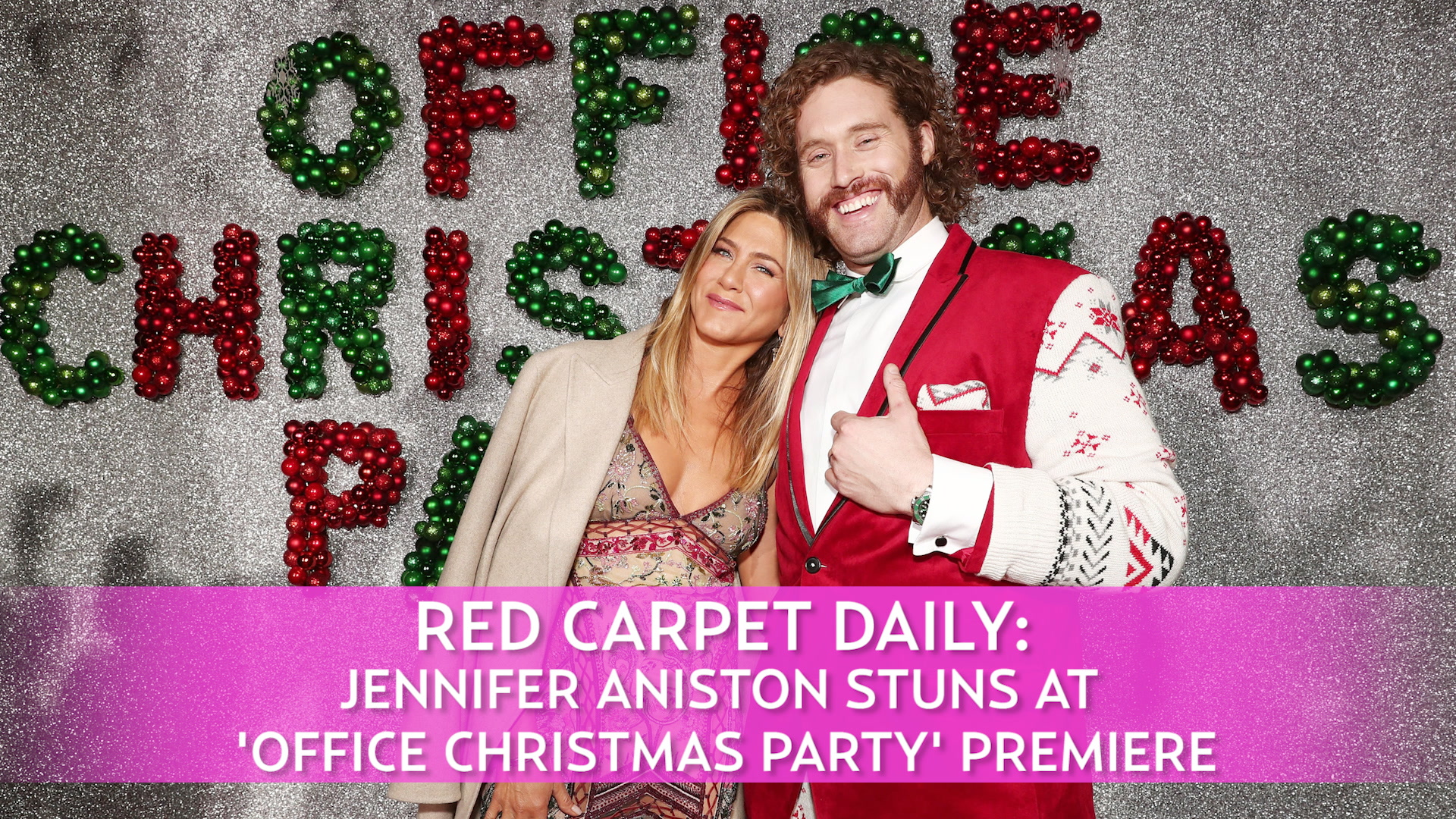 Jennifer Aniston Wears Embroidered Dress on the Red Carpet: Video