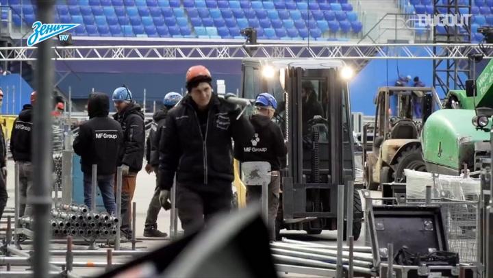 Gazprom Arena Transforms For Ice Hockey