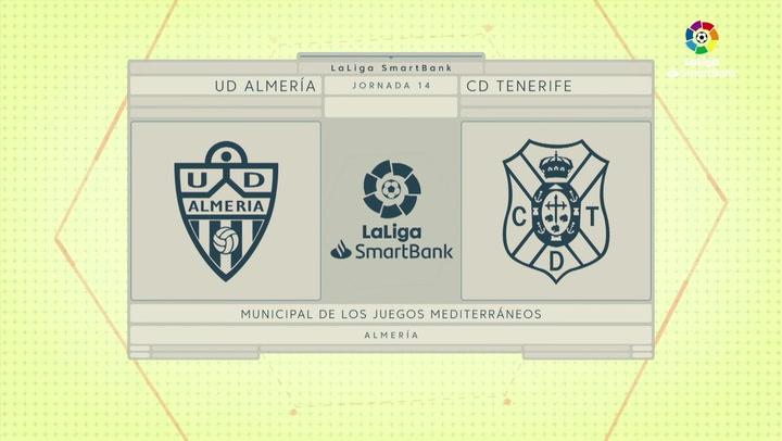 LaLiga Smartbank (Jornada 14): Almería 2-0 Tenerife