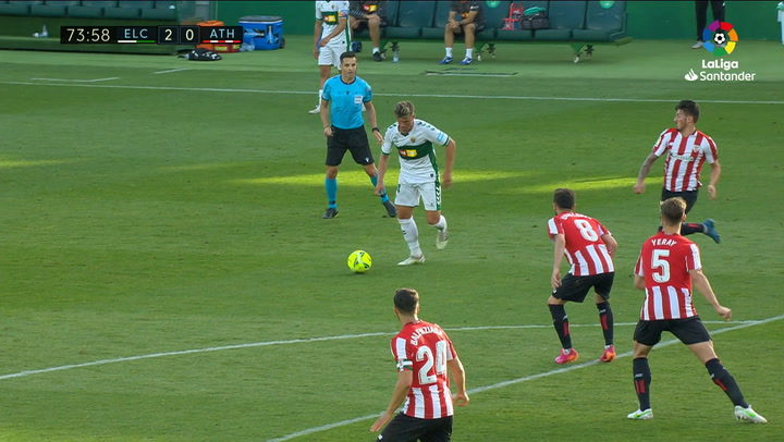 Gol de Raúl Guti (2-0) en el Elche 2-0 Athletic