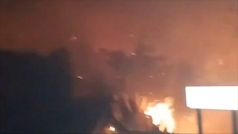 Incendio sin control en Canarias