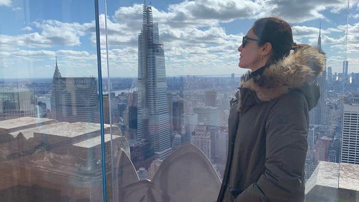 El inolvidable viaje de Blanca Romero con su hija, Lucía, y su hijo  a Nueva York