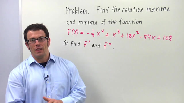 The Second Derivative Test for Relative Maximum and Minimum - Problem 3