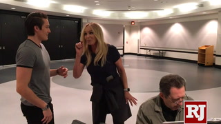 James D. Gish and Susan Anton rehearse