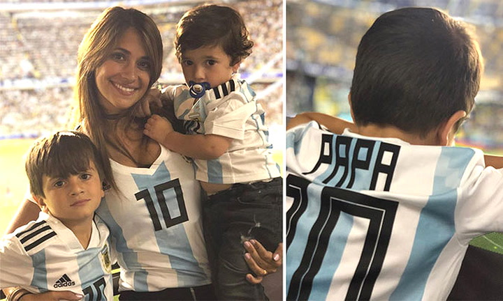 El adorable vídeo de los hijos de Leo Messi cantando para animar a su padre