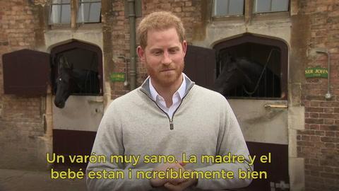 Príncipe Harry anuncia con emoción el nacimiento de su hijo con Meghan