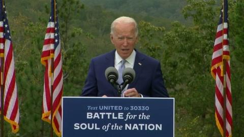 Biden promete controlar covid-19 y Trump ofrece