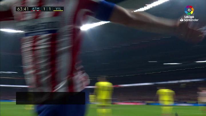 Gol de Koke (2-1) en el Atlético de Madrid 3-1 Villarreal
