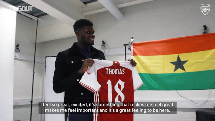 Thomas Partey's first interview as an Arsenal player