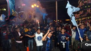 Motagua recibe el apoyo de sus aficionados previo a la final ante Olimpia