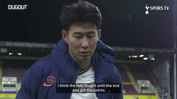Heung-Min Son delighted after defeating Burnley
