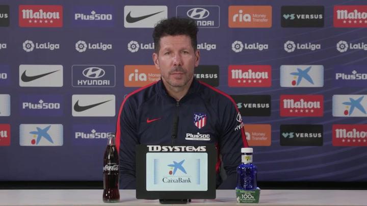 Rueda de prensa de Simeone antes del partido ante Osasuna