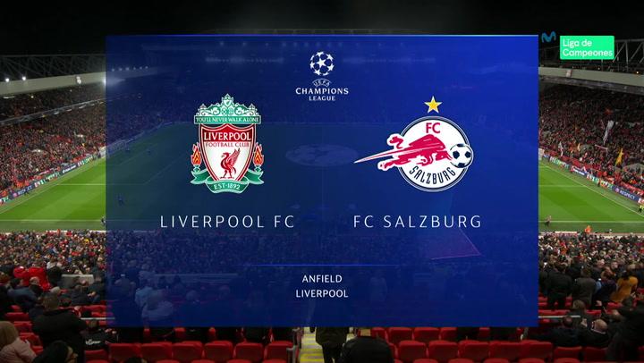Champions League: Resumen y Goles del Partido Liverpool - Salzburgo