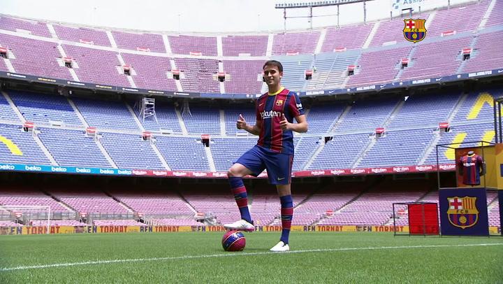 Eric García se presenta como nuevo jugador del Barça