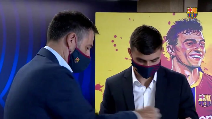 Así ha sido la presentación de Pedri como nuevo jugador del Barça