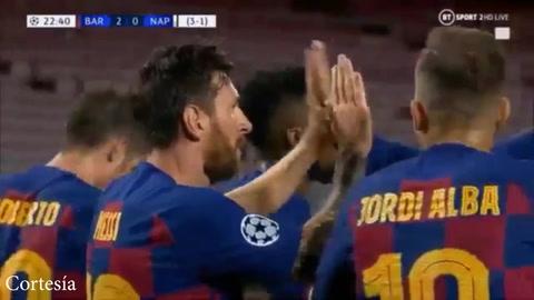 Barcelona elimina al Nápoles de la Champios tras derrota de 3-1