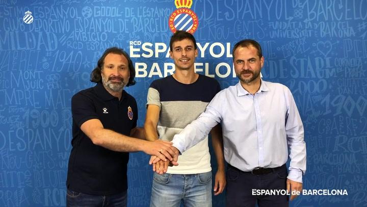 Primeras declaraciones de Iturraspe como jugador del Espanyol