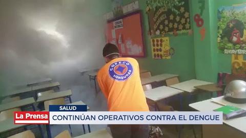 Continúan operativos contra el dengue