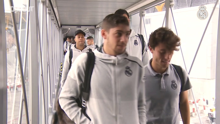 Real Madrid arrive in Mallorca for clash at Son Moix