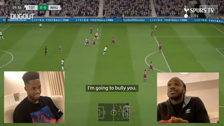 Ryan Sessegnon takes on Michail Antonio in the FIFA London Derby