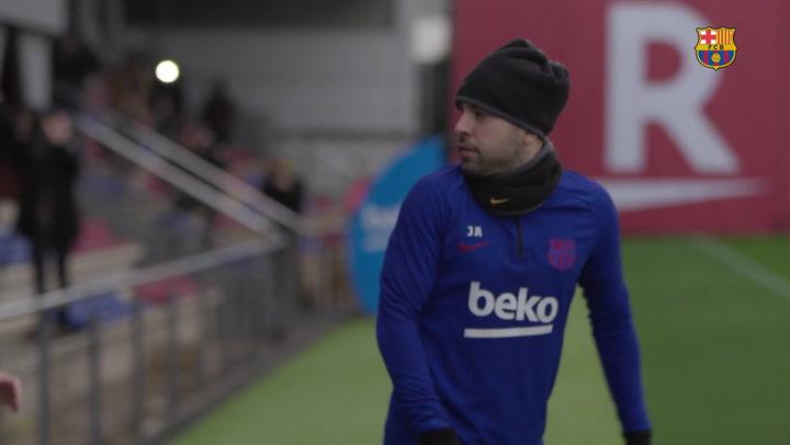 El Barcelona se entrenó pensando en el Alavés