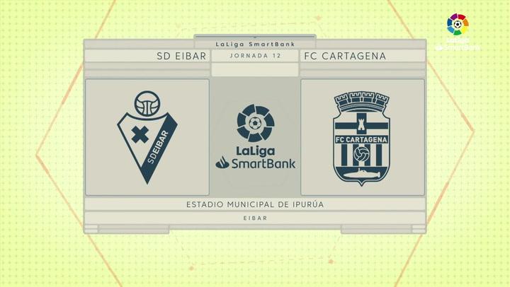 Resumen J12 SD Eibar 2-1 Cartagena