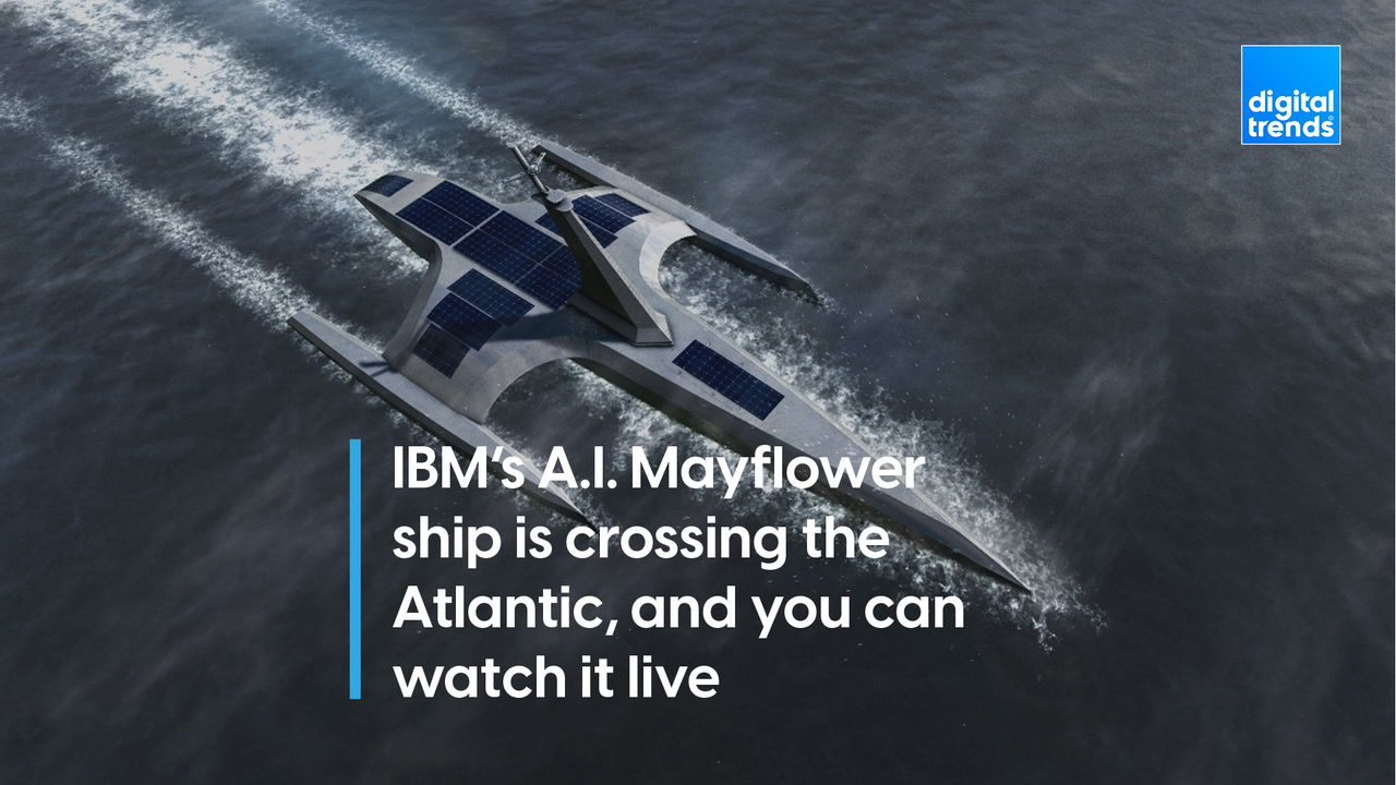 IBM's A.I. Mayflower ship is crossing the Atlantic, and you can watch it live