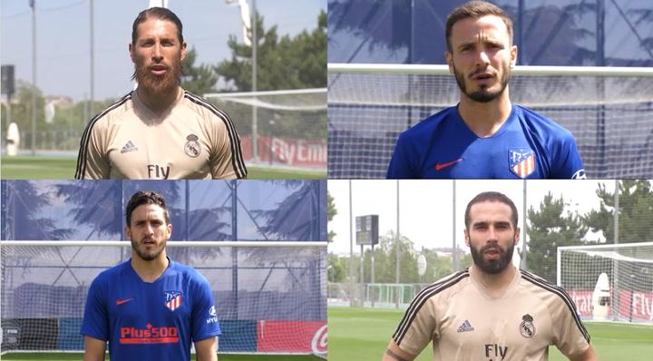Varios jugadores participan en la iniciativa Madrid X Madrid, #ArrimaElCorazón
