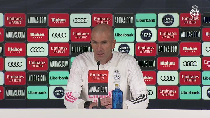 """Zidane """"Confío mucho en mis jugadores y queremos competir"""