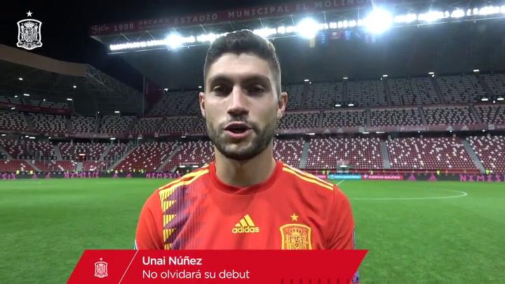 Un día que nunca olvidará: Así fue el debut de Unai Núñez con la selección
