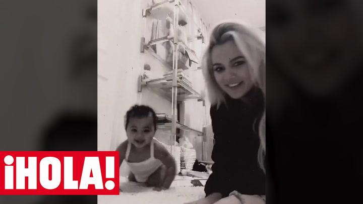 Khloé Kardashian y su hija True, todo amor y risas en su último vídeo en las redes sociales