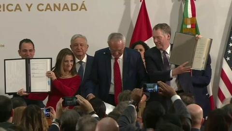 México, EEUU y Canadá firman texto final del T-MEC