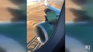 Frontier jet safely returns to Las Vegas after losing engine piece