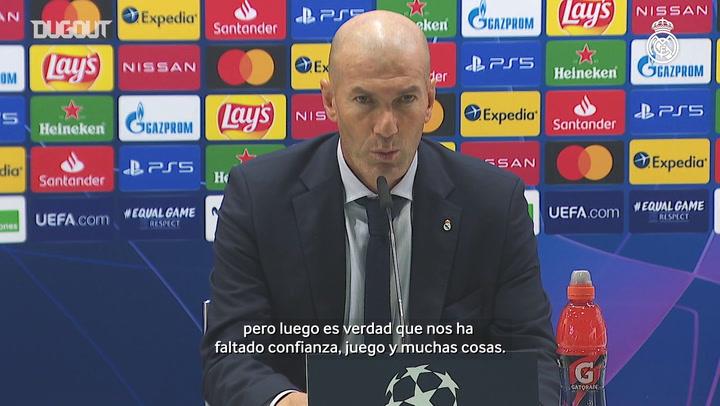 Zidane: 'Nos ha  faltado confianza y juego'