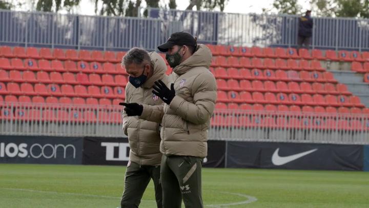 El Atlético de Madrid entrena pensando en el Salzburgo
