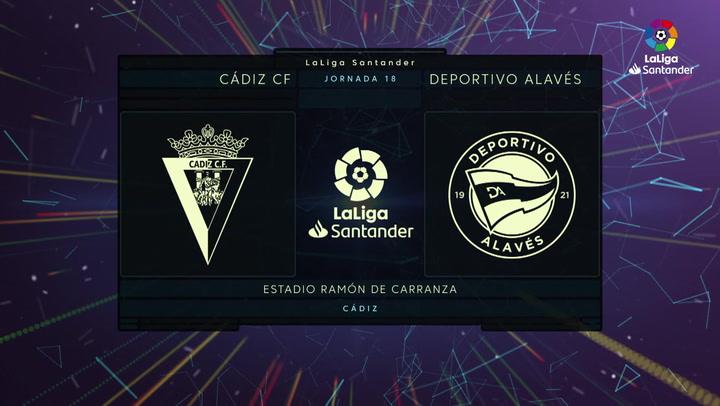 LaLiga (J18): Resumen y goles del Cádiz 3-1 Alavés