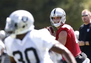 Raiders quarterback Derek Carr talks practice, starting Saturday