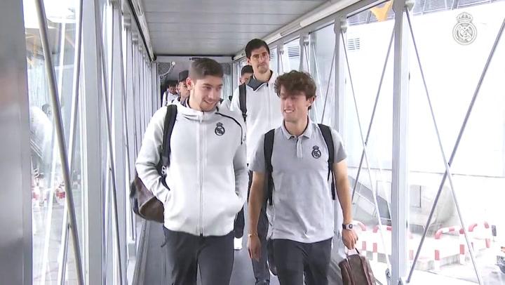 Gran recibimiento al Real Madrid en Mallorca
