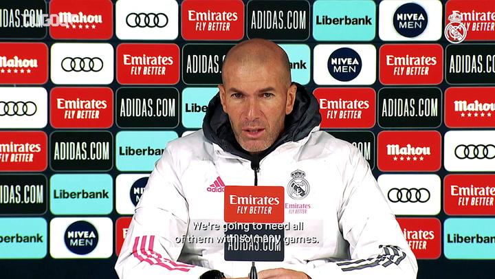 Zinedine Zidane: 'We want to improve'