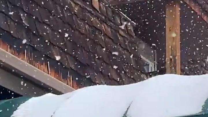 Big flakes falling in Montana