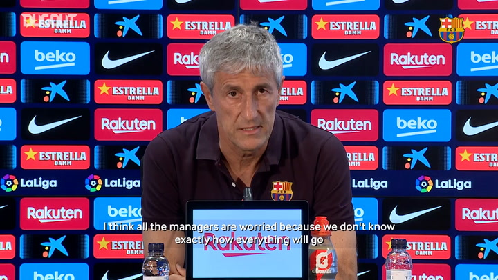 Quique Setién: 'Luis Suárez is ready to play'