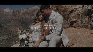 Hector + Erica | Springdale, Utah | Switchback Grille