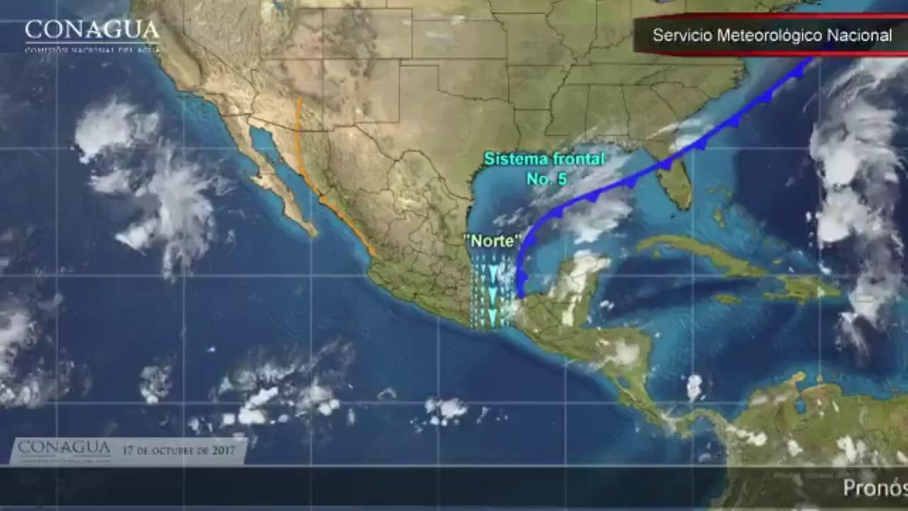 Pronóstico del tiempo para hoy 17 de octubre