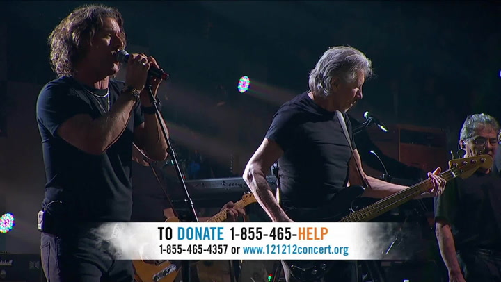 """Roger Waters & Eddie Vedder Perform """"Money"""" - 12-12-12 The Concert for Sandy Relief"""
