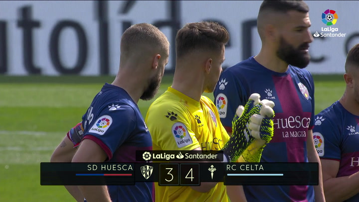 LaLiga Santander (Jornada 26): Huesca 3-4 Celta de Vigo