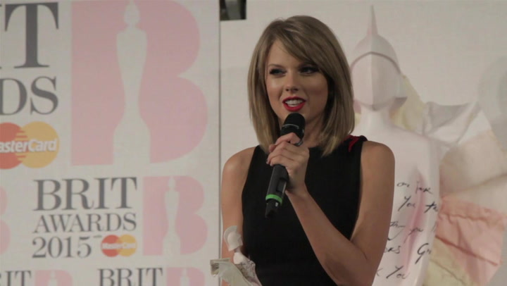 Taylor Swift Completely Gushes Over Her First BRIT Award